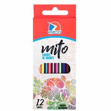 12 Lapices De Color Ezco...